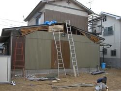 解体完了S邸の外壁